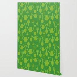 Green Garden Tools Wallpaper