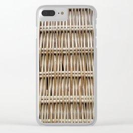 Wicker Weave Clear iPhone Case