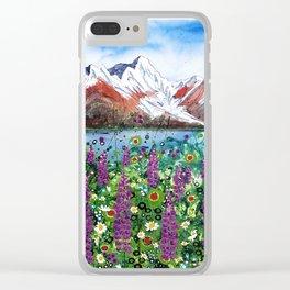 Carpathian in Lupine Clear iPhone Case