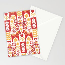 Swedish Folk Art_Mid-Century Modern Stationery Cards