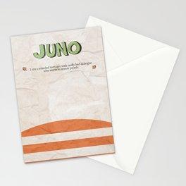 Juno - Alternative Movie Poster, classic movie, funny movie, minimal movie poster Stationery Cards