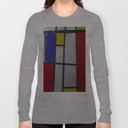 Child Art Paper Paint Window Abstract Long Sleeve T-shirt