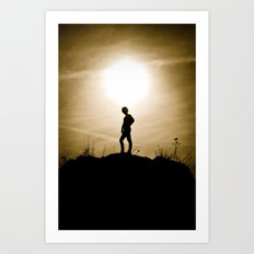 King of the Sunset Hill Art Print