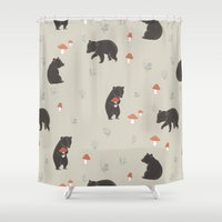 bears Shower Curtains featuring Bears by A.Vogler