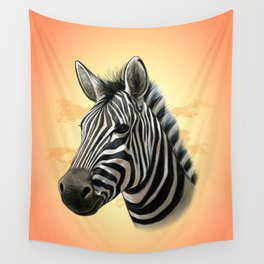 African Zebra Wall Tapestry