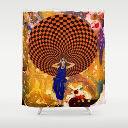 Confusion by Michael Moffa Shower Curtain