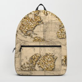 world map wanderlust gold Backpack