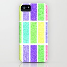 PASTEL RECTANGLES SHAPES  iPhone Case