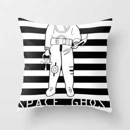 SPACE GHOST BLK Throw Pillow