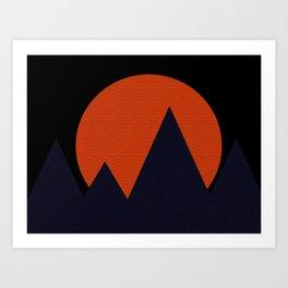 Bold Mountainscape Art Print