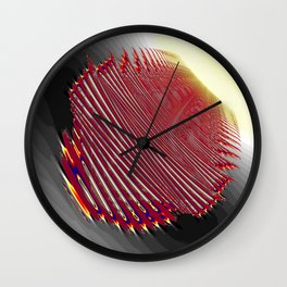 fingerprint for a new life Wall Clock