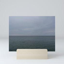 grey lake Mini Art Print