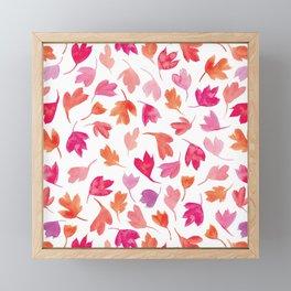 Autumn Leaves | Pinks Framed Mini Art Print