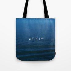 DIVE IN Tote Bag