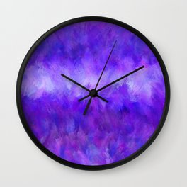 Dappled Blue Violet Abstract Wall Clock