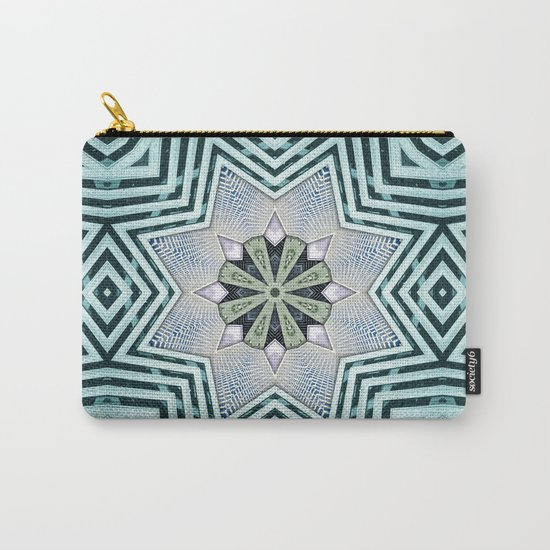 Symmetry In Turquoise Carry-All Pouch
