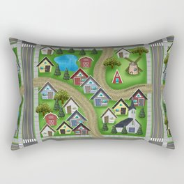 Tiny Cottages in a Tiny World Rectangular Pillow