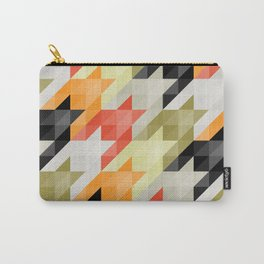 Multicolored origami houndstooth Carry-All Pouch