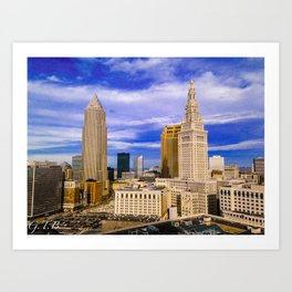 Cleveland in Full Color Art Print