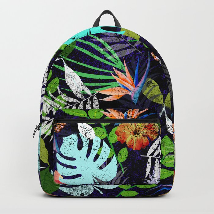 Tropical garden at night Backpack