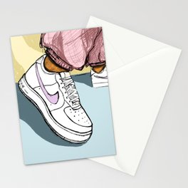 Light Pastel Illustrated Shoes - don't go stompin' Stationery Cards