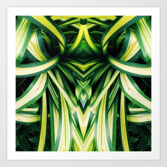 50 Shades of Green (3) Art Print