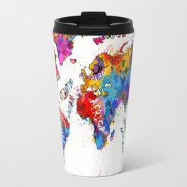 world map color splatter 1 Travel Mug