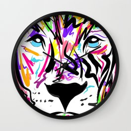 Leo Lion Lines Wall Clock