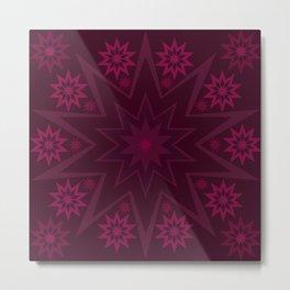 Mulberry Wine Star Flower Metal Print