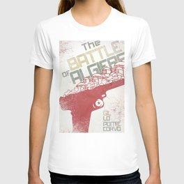 The Battle of Algiers, Gillo Pontecorvo, Italian film, alternative movie, wall art, Africa war T-shirt