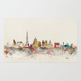 paris city skyline Rug