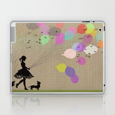 girl with balloons Laptop & iPad Skin