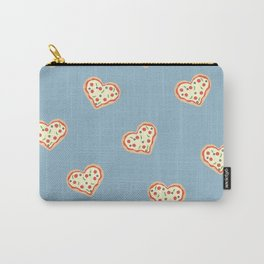 Pizza Heart (Blue) Carry-All Pouch