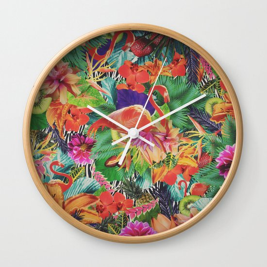TROPICAL LOVE Wall Clock
