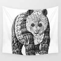 panda Wall Tapestries featuring Panda by BIOWORKZ
