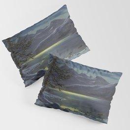 Moonlit Lake, Winter Landscape by Ivan Fedorovich Choultsé Pillow Sham