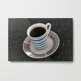 Mini Mug of Black Coffee Metal Print