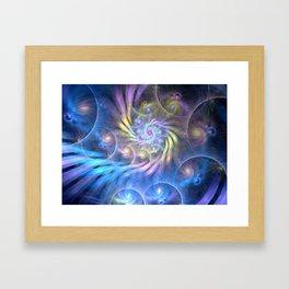 fractal: spiralling soul Framed Art Print