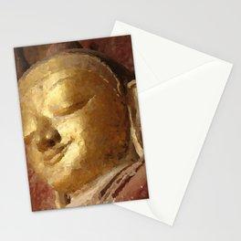Buddha Head Gold Illustration Stationery Cards