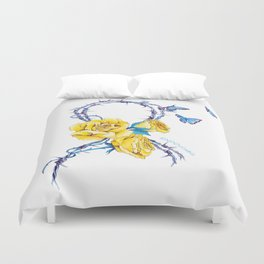 Ribbon | Endometriosis awareness Duvet Cover