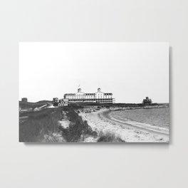 1881 Larkin House Hotel - Watch Hill, Rhode Island, Lighthouse Point Metal Print