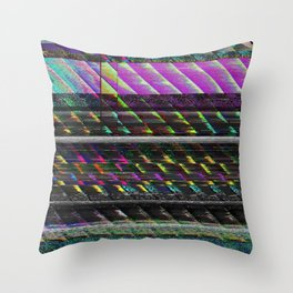 Glitch Nature Throw Pillow