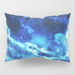 Blue on Moon Pillow Sham