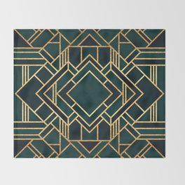 Art Deco 2 Throw Blanket