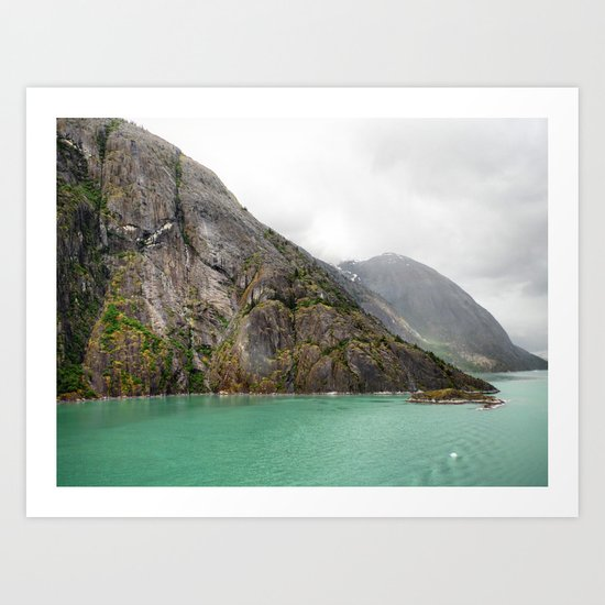 Endicott Arm Mountains Art Print