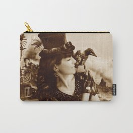 The Traveler (Vintage Sepia Version) Carry-All Pouch