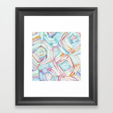 Coastal Umbrellas Framed Art Print