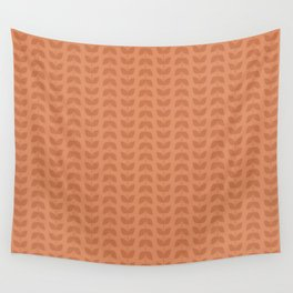 Copper Tan Leaves Wall Tapestry