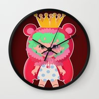one piece Wall Clocks featuring Sugar from one piece by Dama Chan