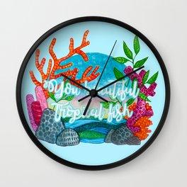 You beautiful, tropical fish Wall Clock